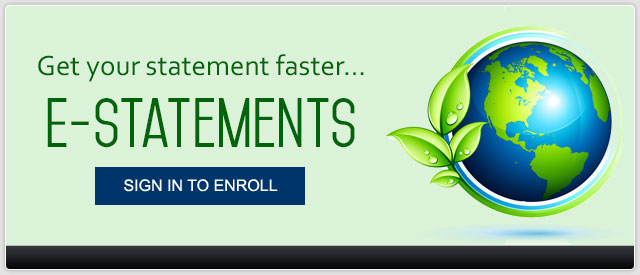 Get your statements faster with e-statements
