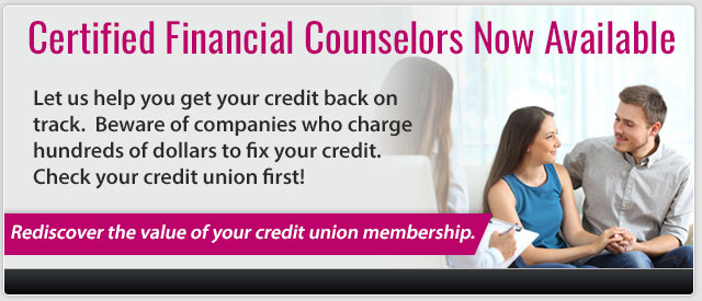 Financial Counselors are now available.