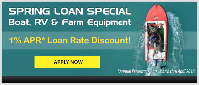 Spring Loan Special. Boat, RV & more for 1% APR Loan Rate Discount. Apply Now.